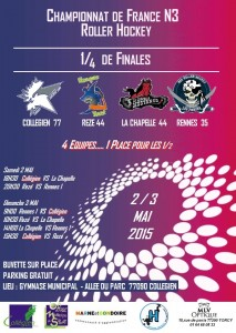Affiche Collégien playoffs